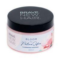 Маска с сияющим эффектом для волос BLOOM BRAVE NEW HAIR, обогащенная аргановыми кокосовым маслами, провитамином В5. С ароматом Божур (пиона) Biopharma 250мл.