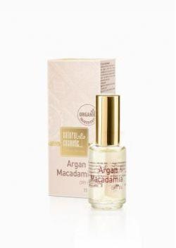 Сухе масло для обличчя, волосся та тіла з аргановою олією та олією горіха макадамія.