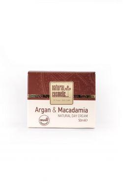 Натуральный дневной крем для лица с аргановым маслом и маслом ореха макадамия.