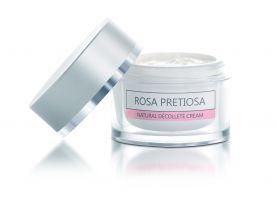 Натуральний крем ROSA PRETIOSA для шиї та зони декольте з олією болгарської троянди